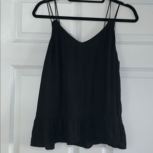 GAP double spaghetti strap black tank